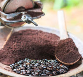 Traditional coffee Original coffee at Doi Inthanon National par — Stock Photo