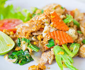 Stir soy sauce pork — Stock Photo