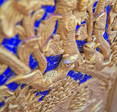 Carving on wood — 图库照片