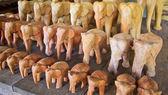 Wood elephants — Stock Photo