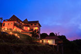 At a luxury resort at night — Stock Photo