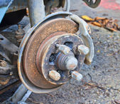 Old rusted disc brake — Stock Photo