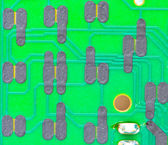 Electronic circuit Remote panel — Stock Photo