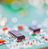 Electronic printed circuit board — Stock Photo