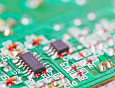 Electronic printed circuit board — Stock Photo