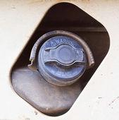Petrol cap cover — Stock Photo