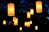 Floating lantern festival — Stock Photo
