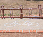 A sign of bicycle path — Foto de Stock