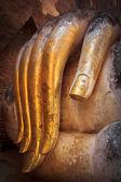 Buddha old hand — Stock Photo