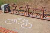 A sign of bicycle path — 图库照片