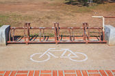 A sign of bicycle path — Stok fotoğraf