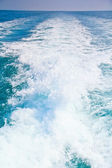 Wave caused by cruise ship. — Stock Photo