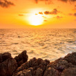 Sunset sea waves — Stock Photo