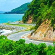 Stock Photo: Road along the seashore