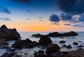 Západ slunce mořské vlny — Stock fotografie