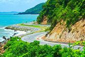 Road along the seashore — Stock Photo