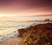 Waves on beach — Stock Photo