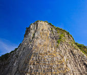 Carved buddha image on the cliff — Foto Stock