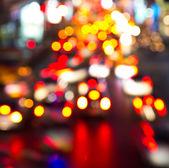Night lights of city — Stock Photo