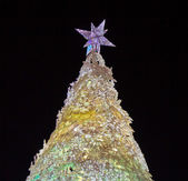 Christmas tree at night — Foto de Stock