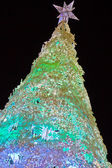 Christmas tree at night — Stockfoto