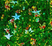 Christmas tree with lights — Stockfoto