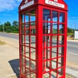 Red telephone box — Stock Photo