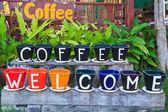 Zapraszamy do kawy — Zdjęcie stockowe