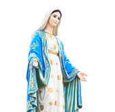 Virgin Mary Statue in Roman Catholic Church — Stock Photo