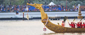 The Royal Barge Procession Exercises on the occasion for Royal Kathin ceremony — Stock Photo