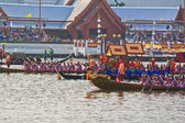 The Royal Barge Procession Exercises on the occasion for Royal Kathin ceremony — Zdjęcie stockowe