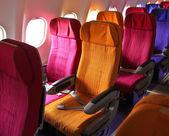 Cabin airplane seats — Stock Photo