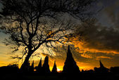 Sunset over old Temple — Foto Stock