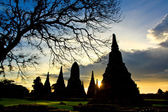 Sunset over old Temple — Stockfoto