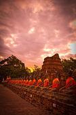 Západ slunce buddha — Stock fotografie
