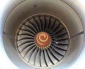 Aircraft jet engine in Airport — Stock Photo