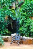 Stoel in de tuin — Stockfoto