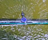 Sprayed water from sprinkler — Stock Photo