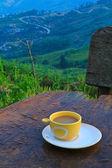 кофе на холме — Стоковое фото