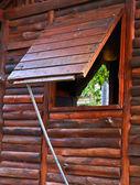 Okna chaty — Stock fotografie