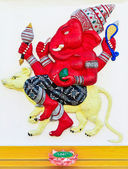 Elefant-vorangegangene gott chachoengsao — Stockfoto