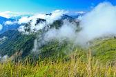 Mountains in fog — Stock Photo