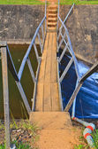 Dam on small river — Foto Stock