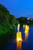 花园喷泉 — 图库照片