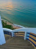 The stairs Into the sea — Stock Photo