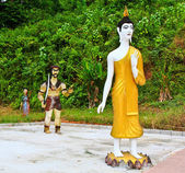 Buddha walking — Stock Photo