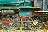 Old steam locomotive. — Stock Photo