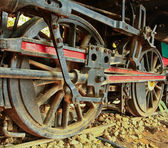 Old steam locomotive. — Foto Stock