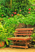Chair in the garden. — Stock Photo