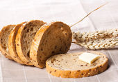 Piece of bread with butter. — Stock Photo